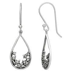 Marcasite Teardrop Earring - Silver