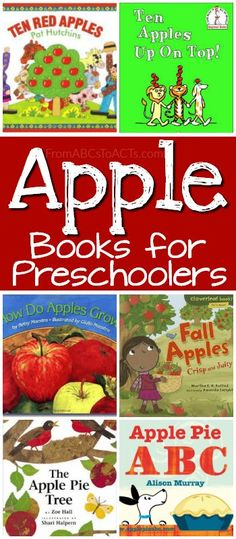 12 fun books about apples that are perfect for a preschool apple theme!