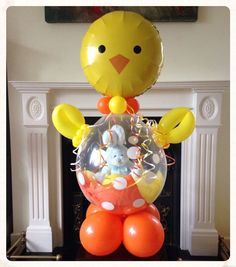 What a hot chick! Stuffed with a cute bunny. Balloon Crafts, Balloon Gift, Balloon Decorations Party, Balloon Ideas, Diy Hot Air Balloons, Balloon Basket, Bubblegum Balloons, Gift Baskets Uk, Balloon Shop