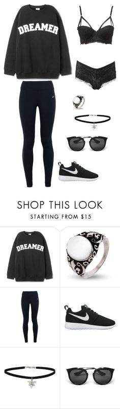 """""""Namjoon"""" by spam-653 ❤ liked on Polyvore featuring NIKE, Miss Selfridge, Prada and Charlotte Russe"""