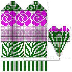 Knitted Mittens Pattern, Knitting Paterns, Knit Mittens, Knitting Charts, Knitting Socks, Crochet Wrist Warmers, Blackwork Patterns, Rainbow Dog, Beaded Jewelry Patterns