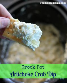 Crock Pot Artichoke Crab Dip