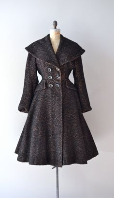 vintage 1950s coat / wool 50s princess coat / Sturm und Drang. $425.00, via Etsy.