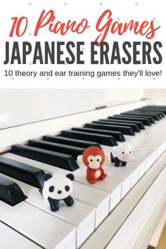 If you've never used Iwako erasers as a piano teaching tool. get ready! Today we're sharing 10 on-bench piano games you can play with these awesome little manipulatives! Piano Lessons For Kids, Kids Piano, Music Lessons, Piano Games, Piano Music, Music Games, Music Theory Games, Piano Keys, Music Wall