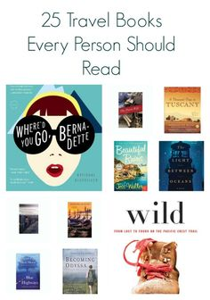 25 Travel Books Every Person Should Read   I've only read a few of these.  Would make a good start to a display.