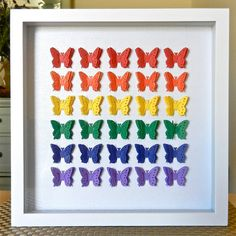 Rainbow Butterfly Shadowbox. $40.00, via Etsy.