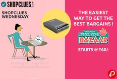 Shopclues offers Super Saver Bazar on Wednesdays Starts @ Rs. 40. The easiest way to get the best bargains.  http://www.paisebachaoindia.com/super-saver-bazar-on-wednesdays-starts-rs-40-shopclues/