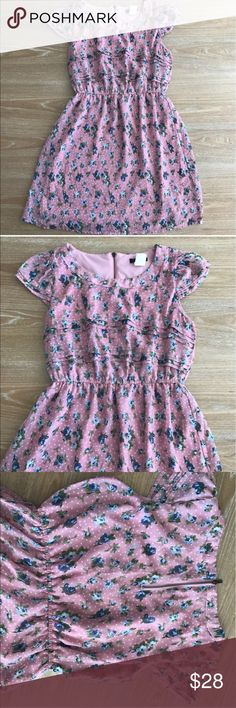 GARDEN PARTY MINI DRESS Beautiful chiffon pink with flowers dress. Lined inside. No rips, holes or stains. Size Small. Measurements: length: 30, bust armpit to armpit 17 laying flat. Item#115                                                                     💗Condition: EUC, No flaws 💗Smoke free home 💗No trades, No returns 💗No modeling  💗Shipping next day 💗OPEN TO reasonable OFFERS  💗BUNDLE and save more 💗All transactions video recorded to ensure quality. Fire Los Angeles Dresses…
