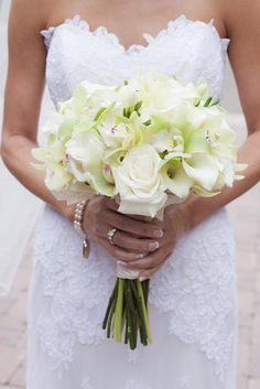 All white summer bouquet (Photo by   White - roses and