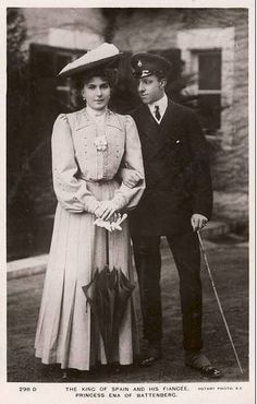 Queen Victoria Eugenie and King Alfonso XIII of Spain