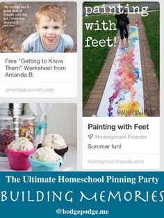 Building Memories at The Ultimate Homeschool Pinning Party