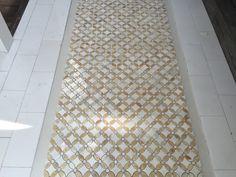 Flower mosaic floor tile