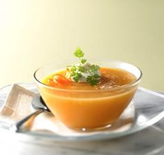 Chilled Carrot Apple Soup