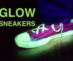 Glow Sneakers just need paint.