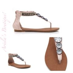 Cute jeweled sandal  Sizes 6-9 1/2 available $15.00