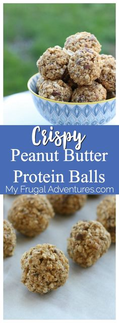 Simple crispy rice and peanut butter protein balls.  Fantastic healthy snack idea and perfect for kids. Give these a shot- they take just a few simple ingredients and are super addicting!