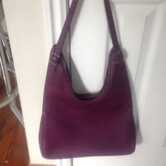 Hermes Massai Clemence Handbag Plum colored Hermes Massai Leather never used. No marks no stains or tears Hermes Bags Shoulder Bags