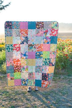 Granny chic, boho chic, or just plan in love with flowers. This quilt celebrates the colors and textures of a bohemian life. Made to order. Each quilt is made with premium designer quilting cotton and USA-grown and manufactured cotton batting. Your quilt will be pre-washed in an