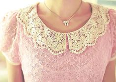 I'm in love with peter-pan collars, i think it's an easy idea for DIY)