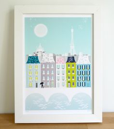 Cityscape Art Print Collection New York San by lauraamiss on Etsy City Skyline Art, Cityscape Art, Paris Wall Art, Paris Art, Wall Art Sets, Wall Art Prints, Eiffel Tower Art, London Wall, London Poster