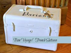 Homeroad-White French Suitcase Storage