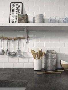 Azulejos biselados para la cocina