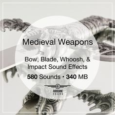 580 blade and bow sound clips in 340 megabytes. Sound Clips, Medieval Weapons, Sound Effects, Libraries, Blade, Bow, Arch, Longbow, Ribbon Work