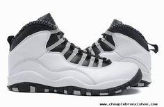 new product 61217 bc3d9 Nike Air Jordan 10 Retro White Black-Lt Stl Gry 310805-101 SZ