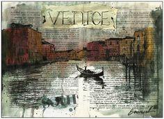 Venice- Mixed media art - Collage