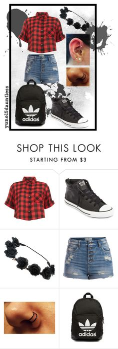 """""""Simple! =)"""" by yuno15dauntless ❤ liked on Polyvore featuring Innocence, Converse, Pieces and adidas Originals"""