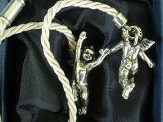 Giovanni Raspini Cord with 925/000 Silver Angels L from Italy - detail