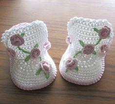 Crochet baby bootsCrochet baby shoesCrochet by NPhandmadeCreations