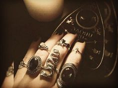 Gothic Jewelry Rings Magick Wicca Witch Witchcraft: A Witch Jewelry, Gothic Jewelry, Grunge Jewelry, Ouija, Piercings, Slytherin, Hogwarts, Wiccan, Witchcraft