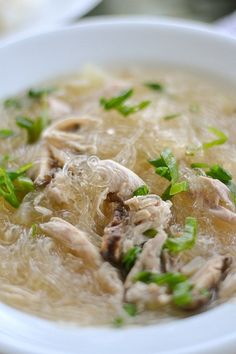 Chicken Sotanghon Soup (Bean Thread Noodle Soup)