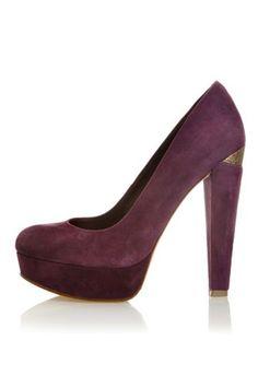 House Of Harlow Callan Closed Toe High Heel Pump In Purple - Beyond the Rack