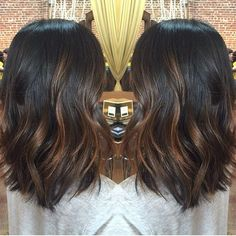 balayage hair dark brown medium length - Google Search: