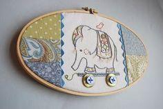 Stickvorlage Elefant