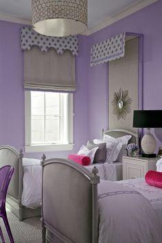 Purple Girl Bedroom http://hative.com/50-teenage-girl-bedroom-ideas-design/