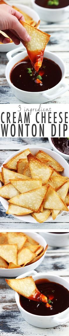 Everybody loves Asian cream cheese wontons - this dip version tastes exactly the same but is easier and quicker to make with just 3 INGREDIENTS!