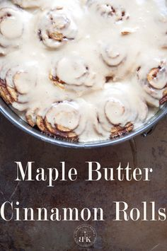 These maple butter cinnamon rolls are THE BEST CINNAMON ROLLS/CINNAMON BUNS EVER! I make them every year for Christmas gifts for the neighbors and to have Christmas baking for guests. They also freeze well for Christmas morning breakfast too! Best Cinnamon Roll Recipe, Best Cinnamon Rolls, Brunch Recipes, Breakfast Recipes, Dessert Recipes, Breakfast Ideas, Desserts, Brunch Food, Breakfast Pastries