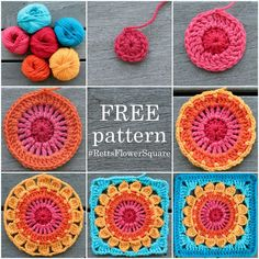 Rett's Flower Square Pattern