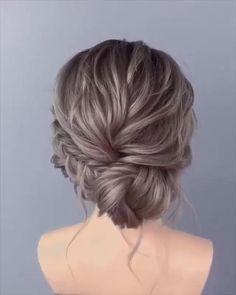 Wedding Hairstyles Tutorial, Easy Hairstyles, Halloween Hairstyles, Hairstyle Short, School Hairstyles, Hairstyles Videos, Bridal Hair Tutorial, Summer Wedding Hairstyles, Office Hairstyles