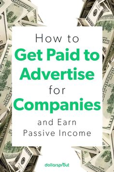 Getting paid to advertise doesn't have to involve hanging promotional signs at your wedding or tattooing a logo on your body. There are multiple ways to advertise products and brands that are legitimate and don't require anything so extreme. |Run Ads| Ads| Advertisement| Easy Ways to Get Paid| Side Hustle| Make More Money| Money| Make Money Fast, Make Money Online, Online Work From Home, Display Ads, Managing Your Money, Social Media Influencer, Hair Blog, Start Up Business, Finance Tips