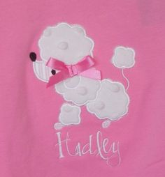Little Poodle Dog Applique Machine by trendystitchdesigns on Etsy, $2.50