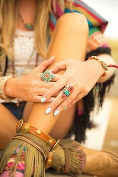 Boho style hippie chic jewelry