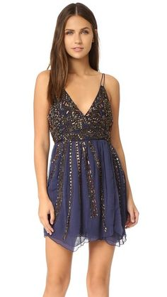 Free People Cassiopeia Embellished Mini Party Dress | SHOPBOP
