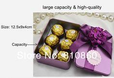 Large Size Rectangle Tin Box Wedding Favors Wedding Gift Packaging
