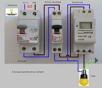 Esquemas eléctricos: Reloj horario