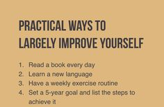 Looking for improvement? Try these