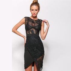 2015 Freeshipping Lace Asymmetrical Hollow Out Knee-length Vestidos New Women's Summer Sleeveless Dress Stitching Cross Ad82022 - http://www.aliexpress.com/item/2015-Freeshipping-Lace-Asymmetrical-Hollow-Out-Knee-length-Vestidos-New-Women-s-Summer-Sleeveless-Dress-Stitching-Cross-Ad82022/32356730295.html